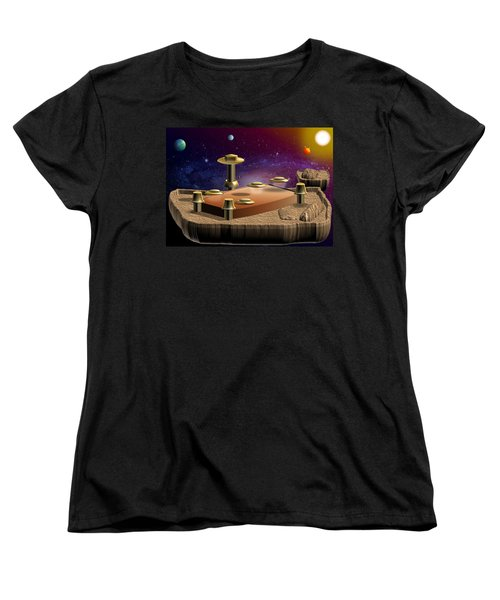 Asteroid Terminal Women's T-Shirt (Standard Cut) by Cyril Maza
