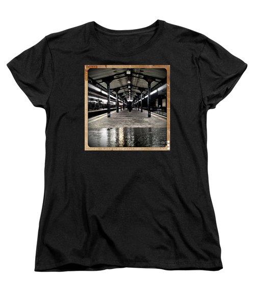 Women's T-Shirt (Standard Cut) featuring the photograph Astoria Boulevard by James Aiken