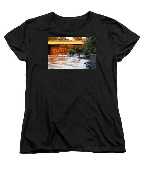 Women's T-Shirt (Standard Cut) featuring the photograph At Rivers Edge by Melanie Lankford Photography