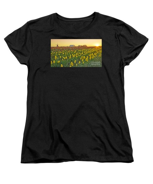 Women's T-Shirt (Standard Cut) featuring the photograph At The Crack Of Dawn by Nick  Boren