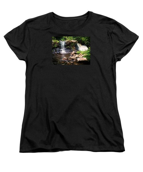Women's T-Shirt (Standard Cut) featuring the photograph At The Mill Pond Dam by Joy Nichols