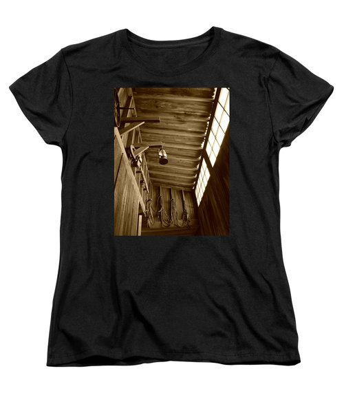 At The Museum - Sepia Women's T-Shirt (Standard Cut) by Marilyn Wilson