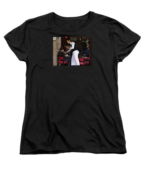 Women's T-Shirt (Standard Cut) featuring the photograph At Your Service by Ira Shander