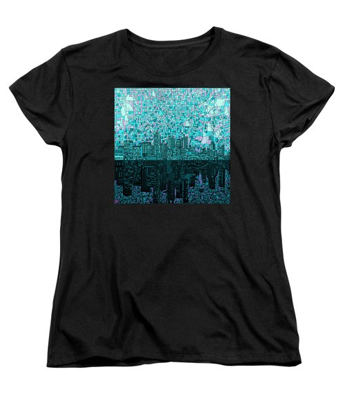 Atlanta Skyline Abstract 2 Women's T-Shirt (Standard Cut) by Bekim Art