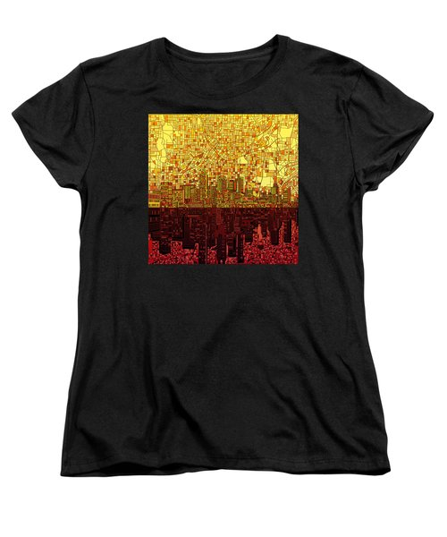 Atlanta Skyline Abstract 3 Women's T-Shirt (Standard Cut) by Bekim Art