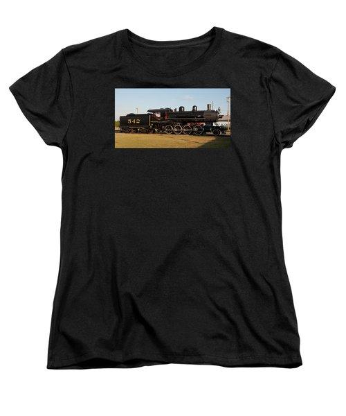 Atlantic And Western 2-8-0 #542 Spencer North Carolina Women's T-Shirt (Standard Cut) by John Black