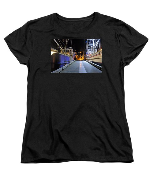 Women's T-Shirt (Standard Cut) featuring the photograph Auke Bay By Night by Cathy Mahnke