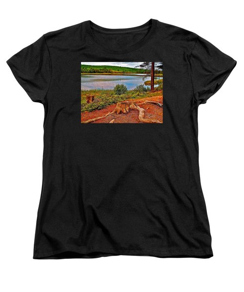 Aunt Betty Pond In Acadia National Park-maine  Women's T-Shirt (Standard Cut) by Ruth Hager