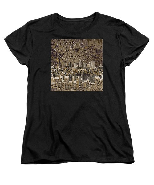 Austin Texas Skyline 5 Women's T-Shirt (Standard Cut) by Bekim Art