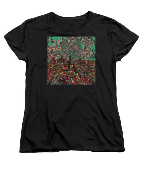 Austin Texas Vintage Panorama 3 Women's T-Shirt (Standard Cut) by Bekim Art