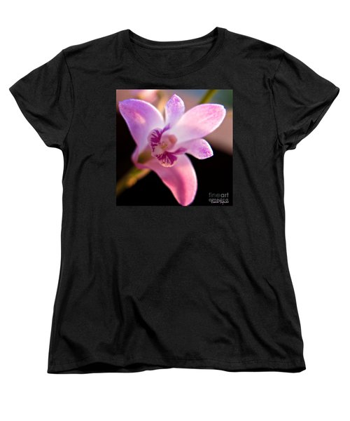 Women's T-Shirt (Standard Cut) featuring the photograph Australian Bush Orchid by Leanne Seymour