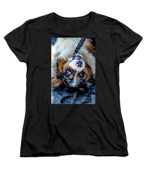 Australian Shepherd Women's T-Shirt (Standard Cut) by Cheryl Baxter
