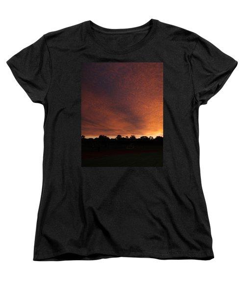Autum Sunset Women's T-Shirt (Standard Cut) by Mustafa Abdullah