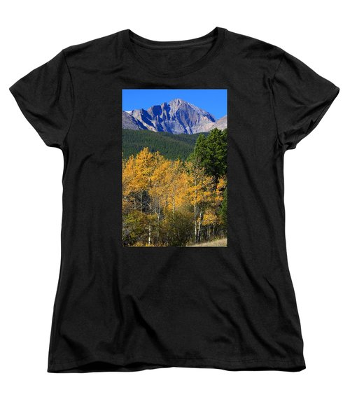 Autumn Aspens And Longs Peak Women's T-Shirt (Standard Cut) by James BO  Insogna