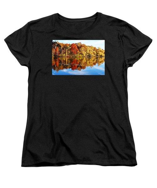 Autumn At Horn Pond Women's T-Shirt (Standard Cut) by Joe Faherty