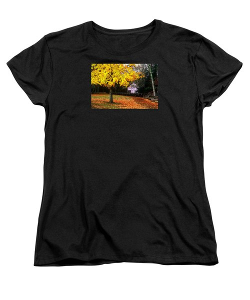 Women's T-Shirt (Standard Cut) featuring the photograph Autumn At Old Mill by Rodney Lee Williams