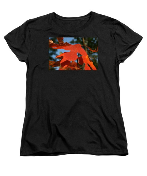 Women's T-Shirt (Standard Cut) featuring the photograph Autumn Attention by Neal Eslinger