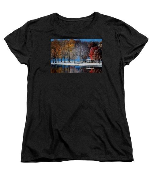 Autumn Blues Women's T-Shirt (Standard Cut) by Rob Blair