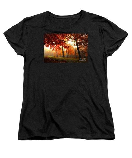 Women's T-Shirt (Standard Cut) featuring the photograph Autumn Canopy by Terri Gostola