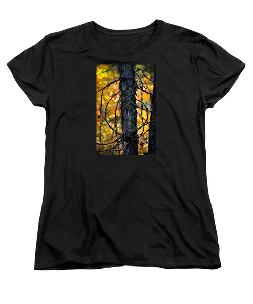 Women's T-Shirt (Standard Cut) featuring the photograph Autumn Colors 1 by Newel Hunter