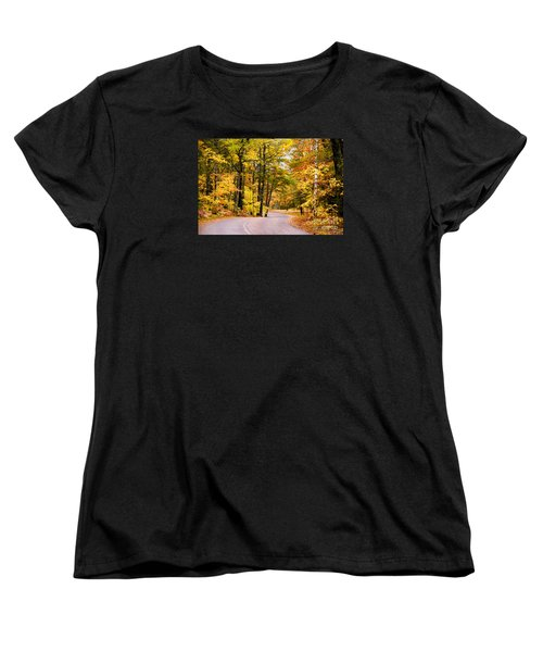 Autumn Colors - Colorful Fall Leaves Wisconsin - II Women's T-Shirt (Standard Cut) by David Perry Lawrence