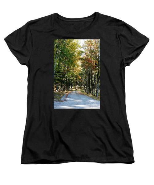 Autumn Drive Women's T-Shirt (Standard Cut) by Barbara Bardzik