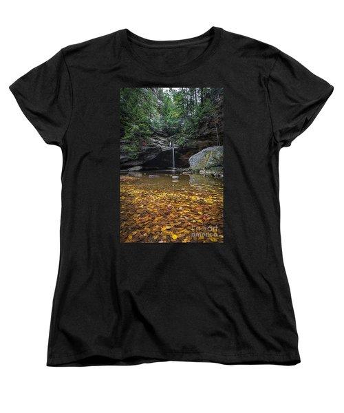 Autumn Falls Women's T-Shirt (Standard Cut) by James Dean