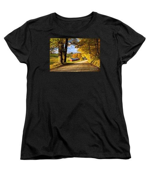 Autumn Farm In Vermont Women's T-Shirt (Standard Cut) by Brian Jannsen