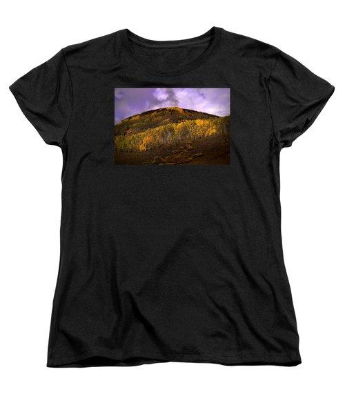 Women's T-Shirt (Standard Cut) featuring the photograph Autumn Hillside by Ellen Heaverlo