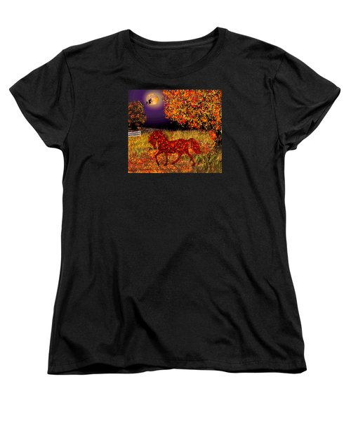Autumn Horse Bewitched Women's T-Shirt (Standard Cut) by Michele Avanti
