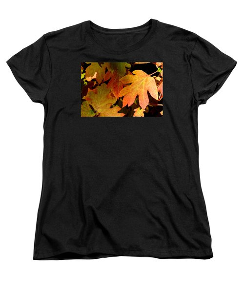 Autumn Hues Women's T-Shirt (Standard Cut) by Living Color Photography Lorraine Lynch