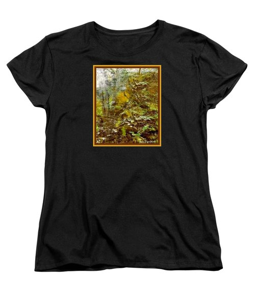 Women's T-Shirt (Standard Cut) featuring the mixed media Autumn Impressions by Ray Tapajna