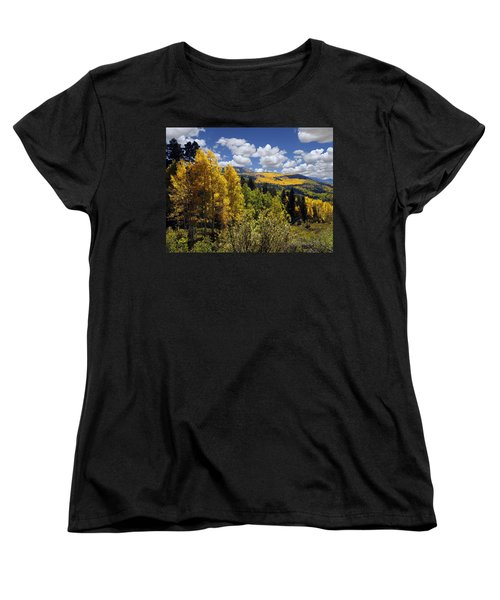 Autumn In New Mexico Women's T-Shirt (Standard Cut) by Kurt Van Wagner