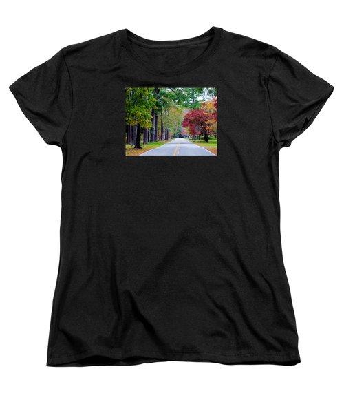 Women's T-Shirt (Standard Cut) featuring the photograph Autumn In The Air by Cynthia Guinn