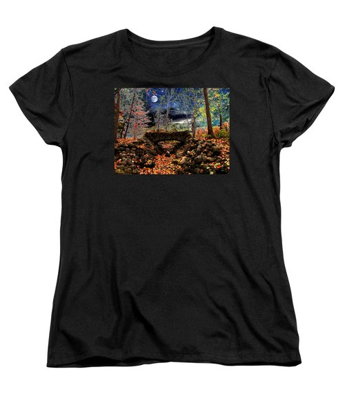 Women's T-Shirt (Standard Cut) featuring the painting Autumn In The Meadow by Michael Rucker