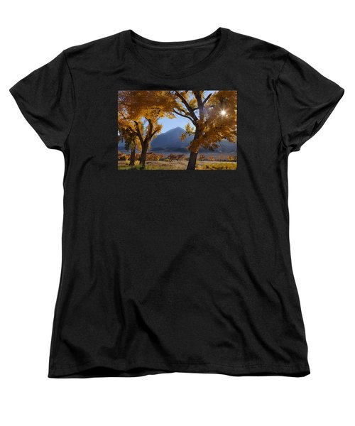 Women's T-Shirt (Standard Cut) featuring the photograph Autumn In The Mountains by Andrew Soundarajan