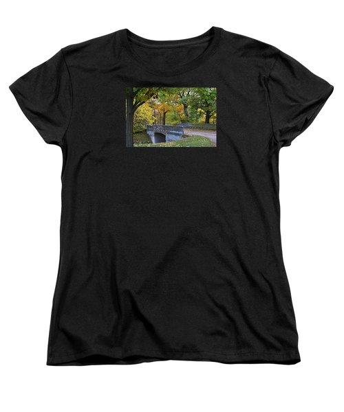 Autumn In The Park Women's T-Shirt (Standard Cut) by Bruce Bley