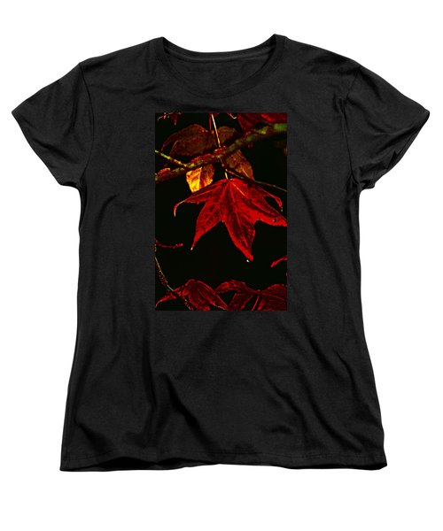 Women's T-Shirt (Standard Cut) featuring the photograph Autumn Leaves by Lesa Fine