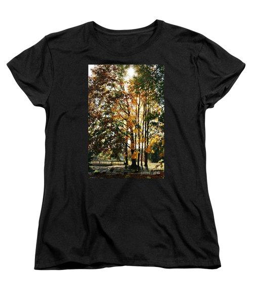 Autumn Light Women's T-Shirt (Standard Cut) by Barbara Bardzik