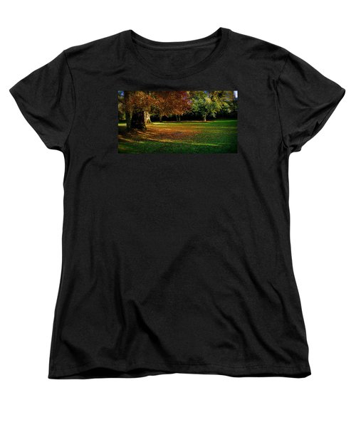 Women's T-Shirt (Standard Cut) featuring the photograph Autumn by Nina Ficur Feenan
