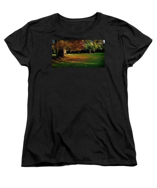 Autumn Women's T-Shirt (Standard Cut) by Nina Ficur Feenan