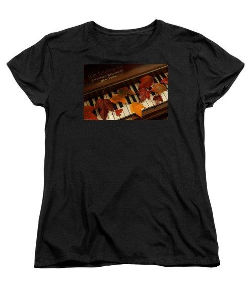 Autumn Piano 14 Women's T-Shirt (Standard Cut) by Mick Anderson