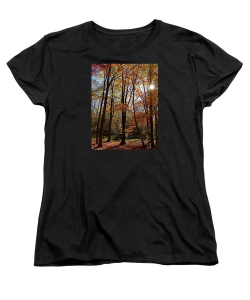 Women's T-Shirt (Standard Cut) featuring the photograph Autumn Picnic by Debbie Oppermann