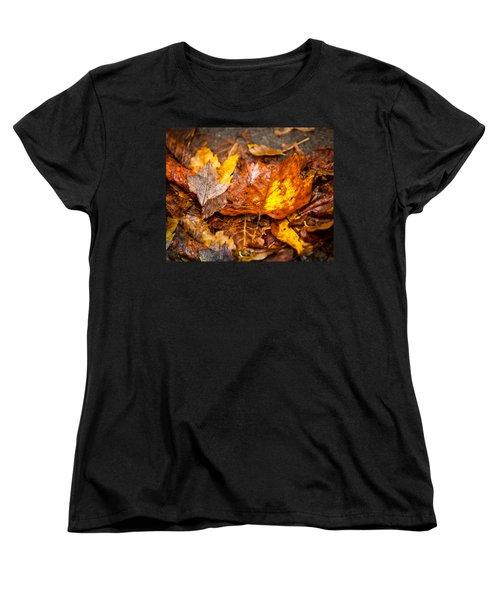 Autumn Pile Women's T-Shirt (Standard Cut) by Melinda Ledsome