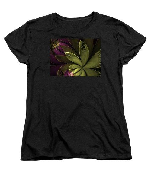 Women's T-Shirt (Standard Cut) featuring the digital art Autumn Plant II by Gabiw Art