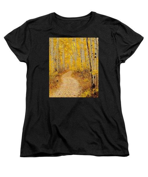 Autumn Road Women's T-Shirt (Standard Cut) by Leland D Howard