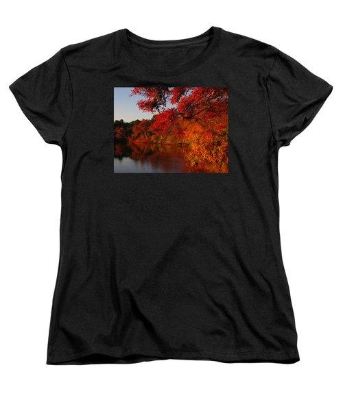 Women's T-Shirt (Standard Cut) featuring the photograph Autumn Splendor  by Dianne Cowen