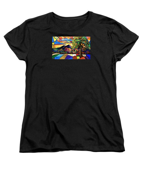 Autumn Sunrise Women's T-Shirt (Standard Cut) by Everett Spruill