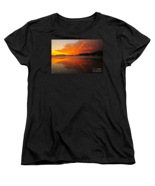 Autumn Sunrise At Stoneledge Lake Women's T-Shirt (Standard Cut) by Terri Gostola