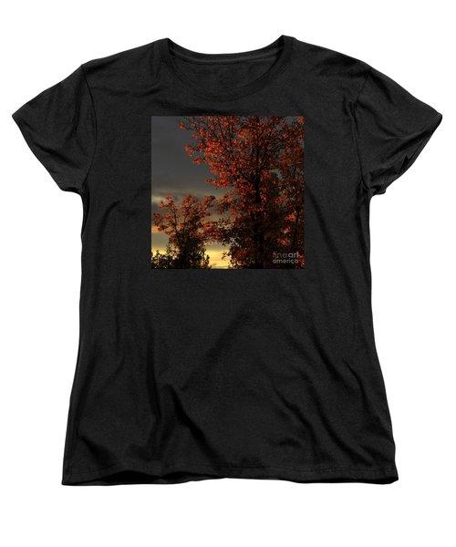 Autumn's First Light Women's T-Shirt (Standard Cut) by James Eddy